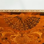 A French demi-lune rosewood bow and arrow table by Georges-François Alix details
