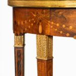 A French demi-lune rosewood bow and arrow table by Georges-François Alix detail bows