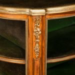 A Napoleon III kingwood freestanding open bookcase detail