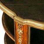 A Napoleon III kingwood freestanding open bookcase top