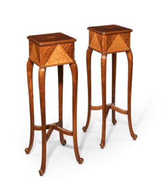 A pair of Anglo-Indian teak stands main