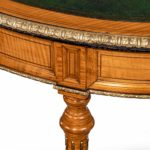 An unusual Victorian freestanding oval satinwood detail