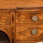 George III breakfront yew-wood inlaid