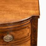 George III breakfront yew-wood inlaid sideboard corner