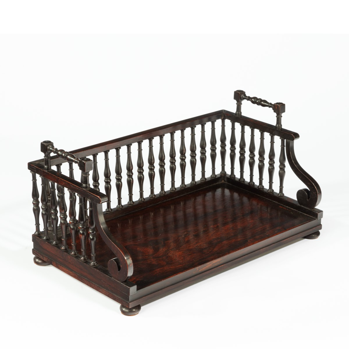 A Regency rosewood book tray circa 1815