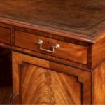 A late George III mahogany partner's desk top drawer