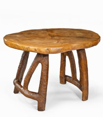 An unusual and attractive centre table by Maxie Lane,