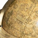 A pair of 12-inch floor globes by Cary stamp map