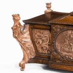 A large ornamental casket made from the oak and copper of HMS Foudroyant