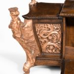 A large ornamental casket made from the oak and copper of HMS Foudroyant, Nelson's flagship details