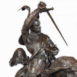 An Italian bronze equestrian sculpture