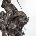 An Italian bronze equestrian sculpture close ups