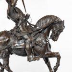 An Italian bronze equestrian sculpture of Emanuele Filiberto, Duke of Savoia details
