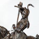 An Italian bronze equestrian sculptures