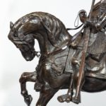An Italian bronze equestrian sculpture of Emanuele Filiberto, Duke of Savoia