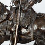 An Italian bronze equestrian sculpture of Emanuele Filiberto, Duke of Savoia detail