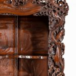 Charlie with his superb monumental Meiji period hard wood display cabinet details