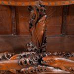 A superb monumental Meiji period hard wood display cabinet, by Noguchi of Yokahama