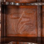 A superb monumental Meiji period hard wood display cabinet, by Noguchi of Yokahama detail