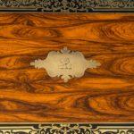 William IV brass-inlaid kingwood writing box
