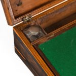 A George IV calamander and specimen parquetry writing slope, Gillows inside detail