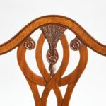 eight late Victorian Hepplewhite Revival mahogany dining chairs close details
