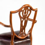 eight late Victorian Hepplewhite Revival mahogany dining chairs back