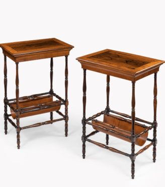 An usual pair of Regency rosewood side tables, firmly attributed to Gillows of Lancaster,