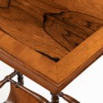 An usual pair of Regency rosewood side tables, firmly attributed to Gillows of Lancaster patination
