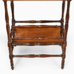 An usual pair of Regency rosewood side tables, firmly attributed to Gillows of Lancaster stretcher