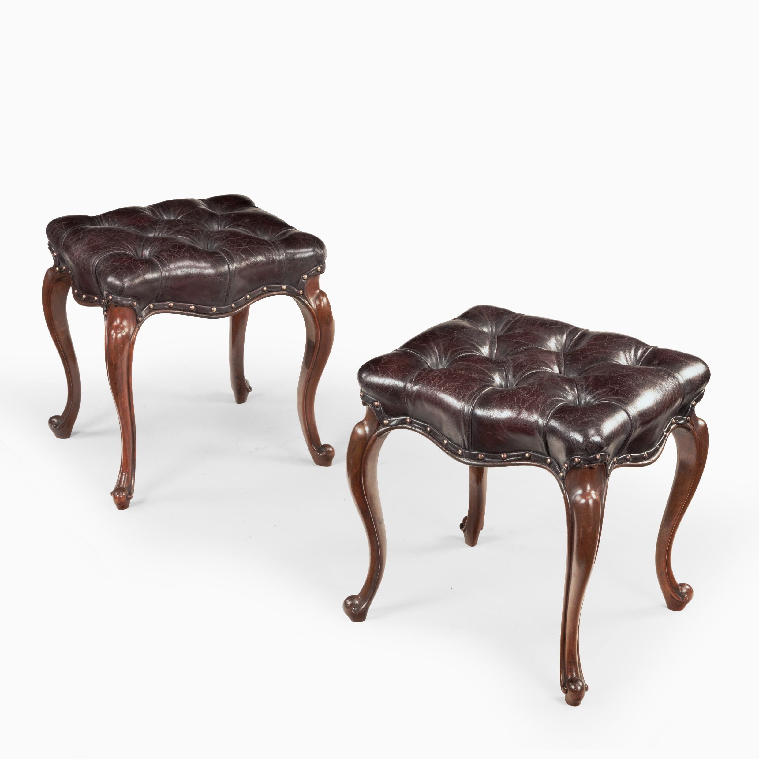 Pair of mid-Victorian rosewood stools