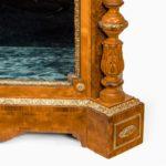 A pair of Victorian satinwood display details