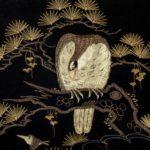 A Japanese needlework Eagle closeup