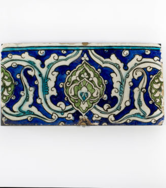 An Ottoman Empire Damascus border tile, late 16th century