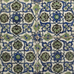 A panel of four square Ottoman Empire tiles