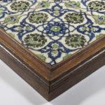 A panel of four square Ottoman Empire tile corner
