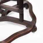 A rare Anglo-Chinese hardwood picnic table feet