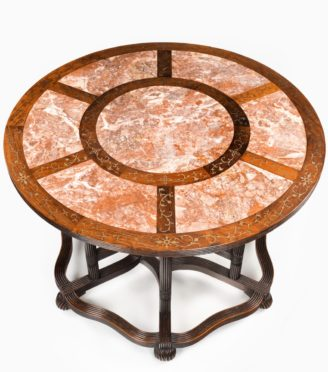 A rare Anglo-Chinese hardwood picnic table