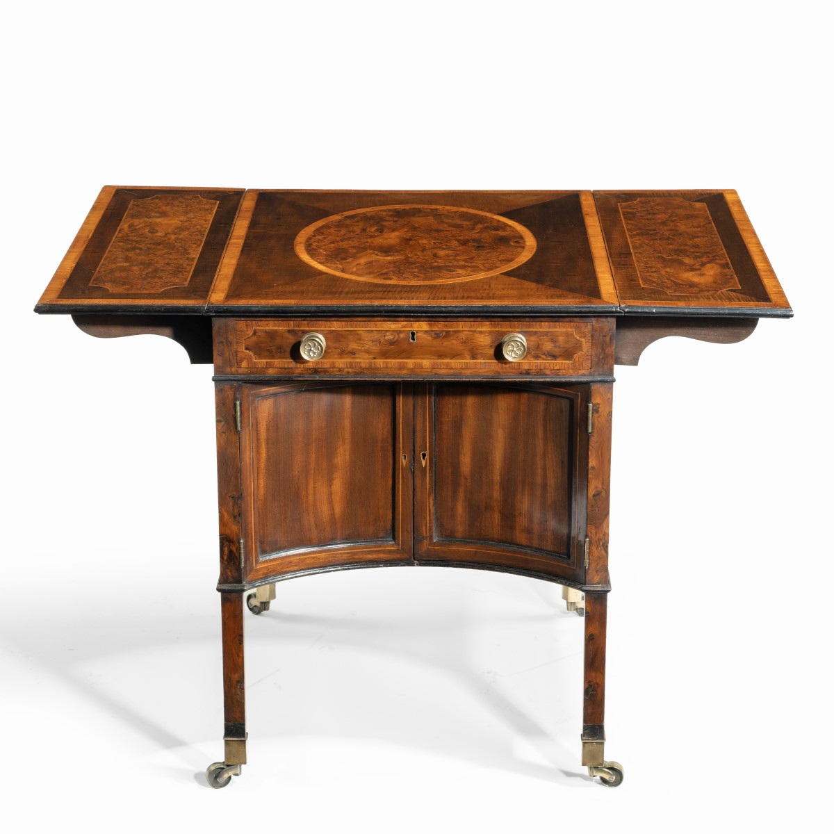 A George III Chippendale-style satinwood Pembroke table,