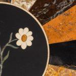 A mid-Victorian walnut and pietra dura top details