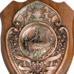 A HMS Victory centennial copper shield details