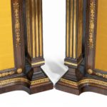 A pair of Regency brass-inlaid rosewood side cabinets details