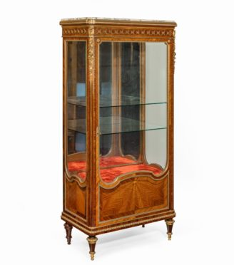 A kingwood display cabinet by Haentges Frères