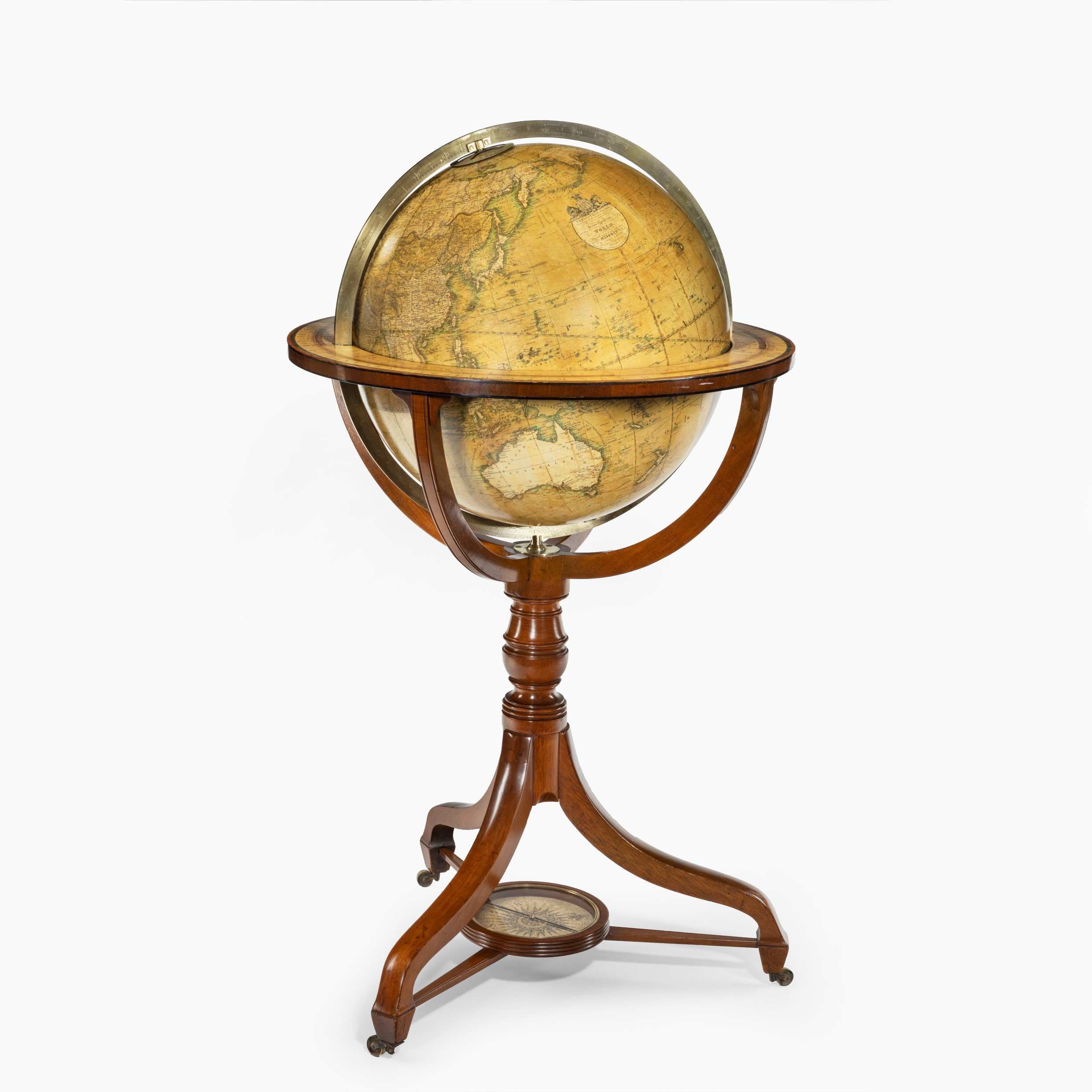 George IV 18-inch floor-standing library globe by John Smith