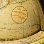 George IV 18-inch floor-standing library globe by John Smith label