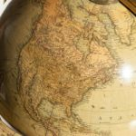 George IV 18-inch floor-standing library globe by John Smith country