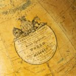 George IV 18-inch floor-standing library globe by John Smith text