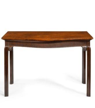 A George III mahogany side table, English, circa 1890.