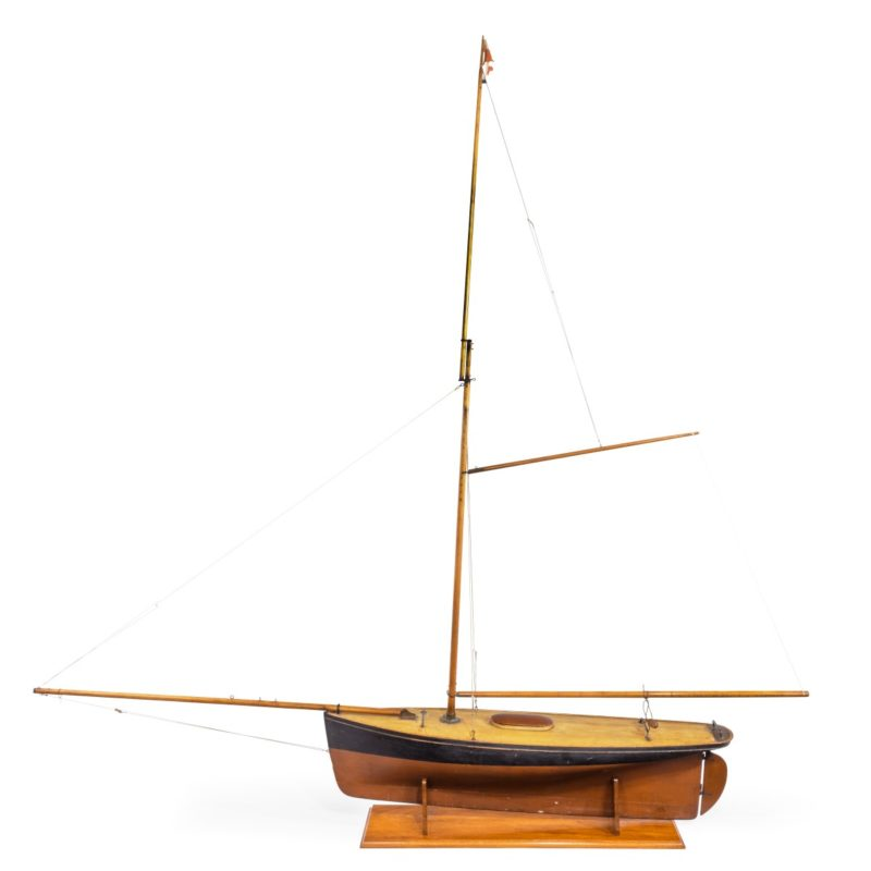 A very large Victorian model of a pond yacht,