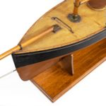 A very large Victorian model pond yacht close up